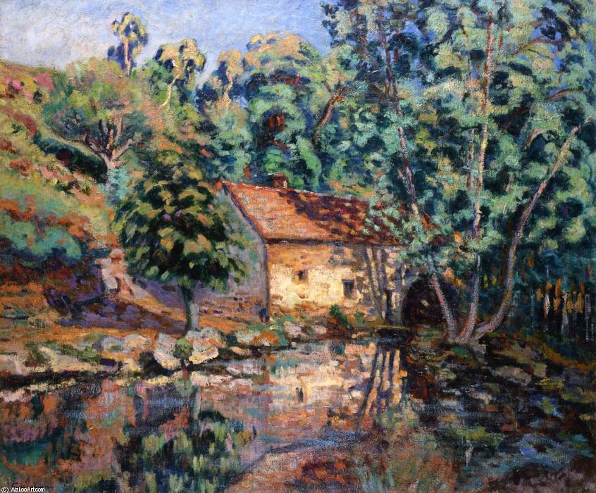 The Bouchardon Mill, Crozant by Jean Baptiste Armand Guillaumin (1841-1927, France) | Famous Paintings Reproductions | WahooArt.com
