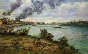 Jean Baptiste Armand Guillaumin - The Confluence of the Seine and Marne at Ivry