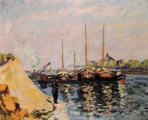 Jean Baptiste Armand Guillaumin - The Quay d-Austerlitz, Morning