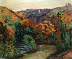 Jean Baptiste Armand Guillaumin - The Ruins of the Chateau at Crozant