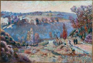 Jean Baptiste Armand Guillaumin - Valley of the Sédelle at Pont Charraud; White Frost