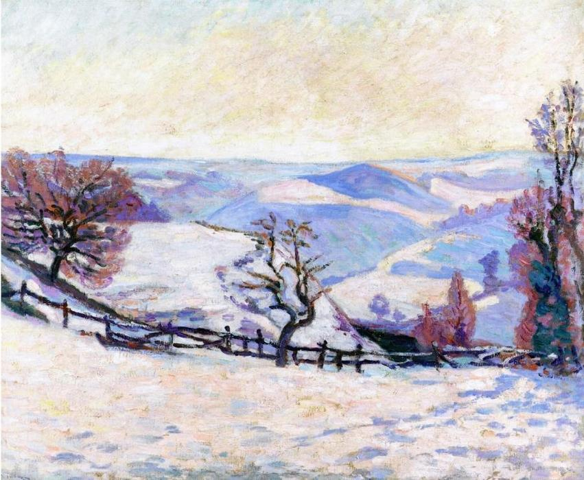 White Frost at Puy Barriou, 1905 by Jean Baptiste Armand Guillaumin (1841-1927, France) | Painting Copy | WahooArt.com
