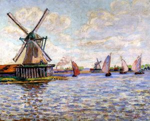 Jean Baptiste Armand Guillaumin - Windmills in Holland