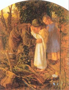 Arthur Hughes - Home from Work