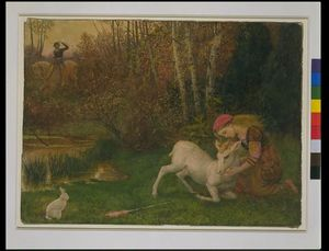 Arthur Hughes - The White Hind