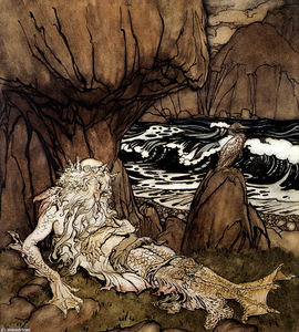 Arthur Rackham - A Crowned Merman