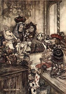 Arthur Rackham - Alice in Wonderland. Who Stole the Tarts