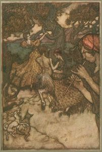 Arthur Rackham - If orpheus first produced the waltz