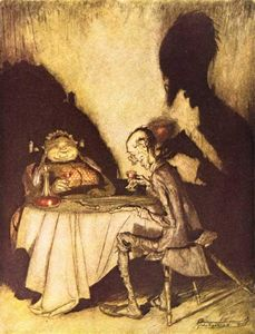 Arthur Rackham - Mother Goose. Jack Sprat and His Wife