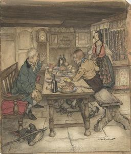 Arthur Rackham - The Farmer's Supper