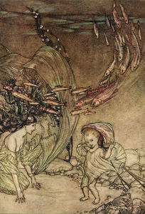 Arthur Rackham - The Infancy of Undine