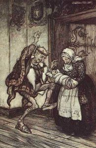 Arthur Rackham - The King could not contain himself for joy