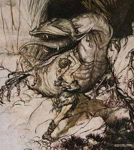 Arthur Rackham - The ring of the nibelung 44