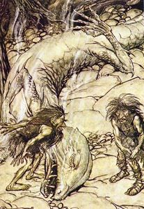 Arthur Rackham - The ring of the nibelung 46