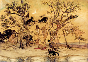 Arthur Rackham - The Witches Sabbath