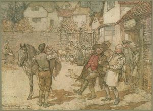 Arthur Rackham - When a score of ewes had brought in a remarkable profit