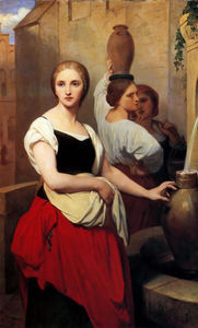Ary Scheffer - Margaret at the Fountain