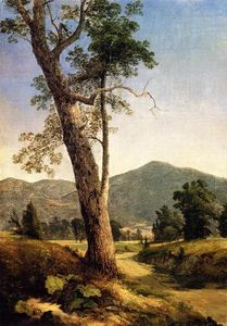 Asher Brown Durand - Landscape beyond the tree