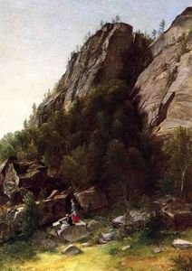Asher Brown Durand - Landscape with figures