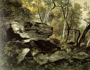Asher Brown Durand - Study from Nature. Rocks and Trees