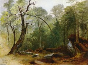 Asher Brown Durand - Study in the woods