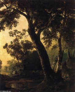 Asher Brown Durand - Study of trees, marbletown, n.y.