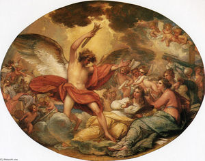 Benjamin West - Genius Calling Forth the Fine Arts to Adorn Manufactures and Commerce
