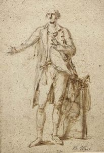 Benjamin West - Study of a standing man, possibly a study for portrait of Lord Camden