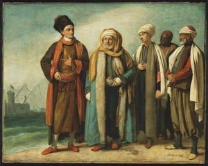 Benjamin West - The Ambassador from Tunis with His Attendants as He Appeared in England in 1781