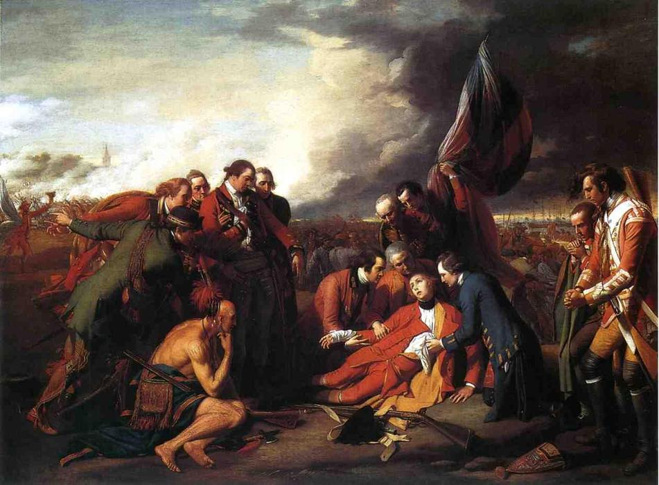 The Death of General Wolfe, Painting by Benjamin West (1738-1820, United States)