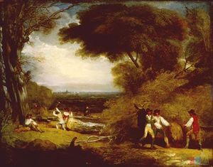 Benjamin West - Woodcutters in Windsor Park