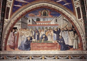 Benozzo Gozzoli - Funeral of St Augustine (scene 17, south wall)