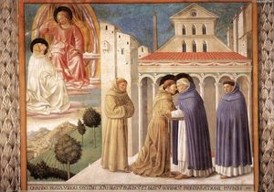 Benozzo Gozzoli - Scenes from the Life of St Francis (Scene 4, south wall)