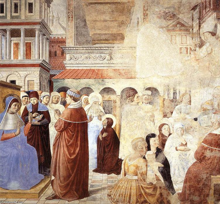 Scenes with St Ambrose (scene 9, north wall), 1464 by Benozzo Gozzoli (1420-1497, Italy) | Art Reproduction | WahooArt.com