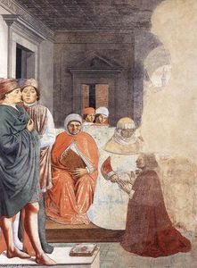 Benozzo Gozzoli - St Augustine at the University of Carthage (scene 2, north wall)