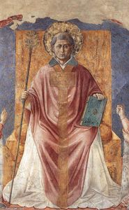 Benozzo Gozzoli - St Fortunatus Enthroned