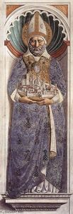 Benozzo Gozzoli - St Gimignano (on the pillar)