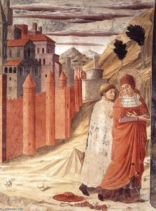 Benozzo Gozzoli - The Departure of St Jerome from Antioch