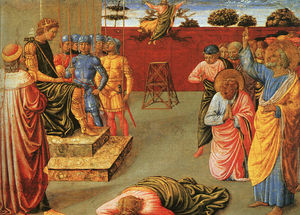 Benozzo Gozzoli - The Fall of Simon Magus