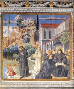 Benozzo Gozzoli - The Parable of the Holy Trinity (scene 12, south wall)