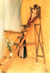 Carl Larsson - At The Scaffold Painter
