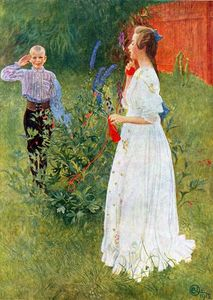 Carl Larsson - Her Royal Highness, Big Sister