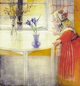 Carl Larsson - LillAnna And The Crocus