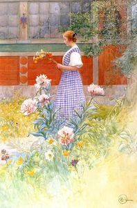 Carl Larsson - Lisbeth And Peonies
