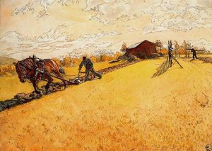 Carl Larsson - Ploughing the field
