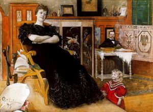 Carl Larsson - Portrait of Anna Petersson-Norrie