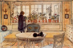 Carl Larsson - Window with flowers