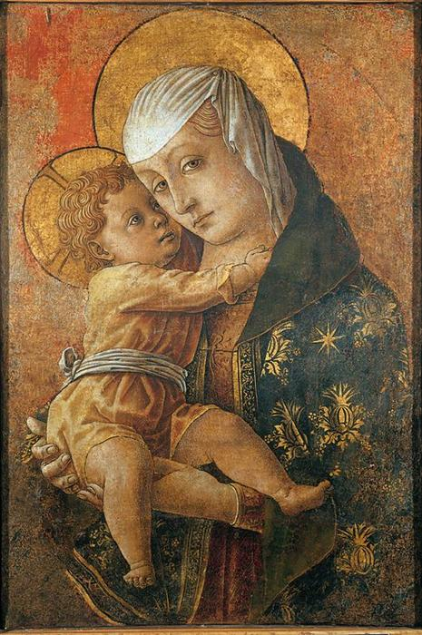 Virgin with the Child by Carlo Crivelli (1435-1495, Italy) | Art Reproductions Carlo Crivelli | WahooArt.com