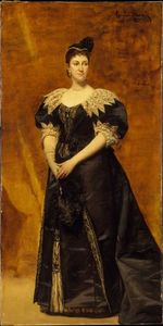 Carolus-Duran (Charles-Auguste-Emile Durand) - Mrs. William Astor (Caroline Webster Schermerhorn)