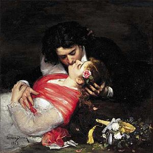 Order Art Reproductions | The Kiss by Carolus-Duran (Charles-Auguste-Emile Durand) | WahooArt.com